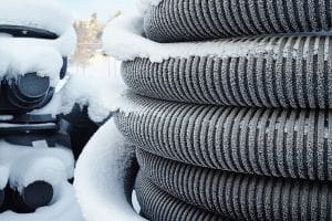 frost on pipe